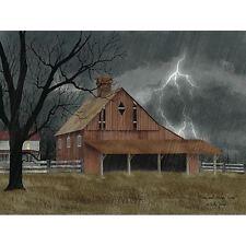 Billy Jacobs Dark and Stormy Night Farm Art Print 16 x 12