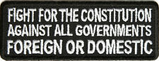 Fight For The Constitution Patch, biker, motorcycle,vest, gun, 2nd amendment