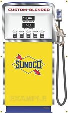 SUNOCO WAYNE BLEND-O-MATIC GAS PUMPS WALL MURAL SIGN BANNER ART VARIOUS SIZES