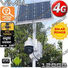 4G Security Camera Solar PTZ 18XOptical Zoom Motor GSM Alarm Farm Live View 3G