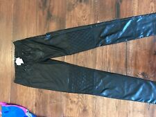 NEW Hannah Banana Black Faux Leather Pants in Girls Size 12