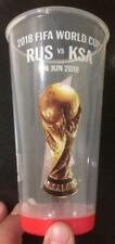 2018 FIFA WORLD CUP RUSSIA - SAUDI ARABIA 14.6 USED MATCH BUD BEAR PLASTIC GLASS