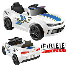 Battery Ed Police Car For Kids Ride On 6v Electric Camaro Toddler Vehicle