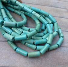 Un filamento-Cilindro Howlite Tubo Cuentas Piedras Preciosas Perlas de columna