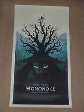 Princess Mononoke Olly Moss poster print Mondo Hayao Miyazaki Hime Spirited Away