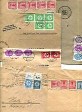 D.Reich  6 Dienstbriefe -Teile - von 1934-1942  u.a.mit 5er Block D 134  b.lesen