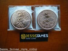 PAIR: 2015 TRIVIUM & FREEDOM GIRL 1 OUNCE .999 FINE COPPER ROUND SILVER SHIELD