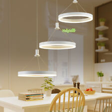 Modern White Round Rings LED Chandelier Home Pendant Light Lighting Fixtures