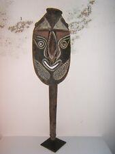 Primitive Sepik Mask, Papua, New Guinea with custom made stand, circa mid 1900's