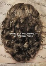 WAVY Layered Full Wig Chestnut brown Blonde MIX Hair piece NWT JSBD 8-12-24