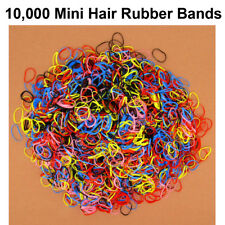 Lot of 10,000 Girls Kids Colorful Hair Rubber Bands Elastic Tie Ponytail Holder
