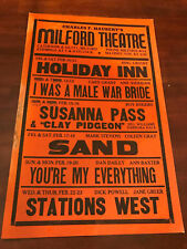 VINTAGE MILFORD THEATRE PA 14x22 LOBBY CARD/SIGN HOLIDAY INN BING CROSBY +MORE