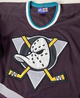 Vintage Starter 90's Anaheim Mighty Ducks Jersey Disney NHL Hockey Sz L Mesh