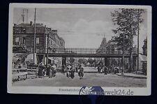 alte AK Eisenbahnbrücke und Durchlaß 1917 Lok