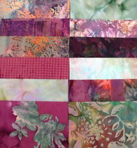 Stash Builder! PRE-WASHED 12 Batik Fat Quarters Quilt Shop Top Quality Batiks