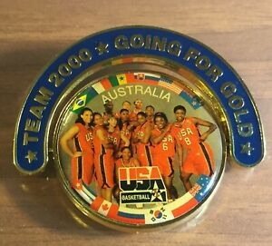 SYDNEY 2000 OLYMPICS. TEAM USA MEN'S & WOMEN'S BASKETBALL BADGE/PIN. GREAT DEAL!