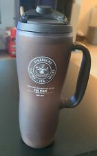 Starbucks Brown Pike Place Seattle WA 2010 Tumbler With Handle