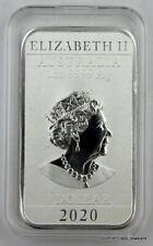 2020 1 oz Silver Australian Dragon Coin Bar $1 BU
