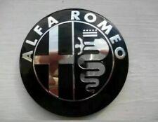 Alfa Romeo BLACK&SILVER Emblem Badge 147 156 159 BreraMito Giulietta FrontOrBack