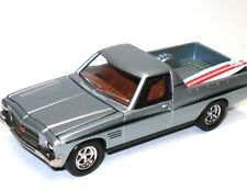 NEW Cooee Road Ragers 1974 HQ Holden Silver Sandman Surfie Ute & Surf Board 1:64