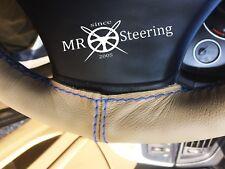 Pour DATSUN SUNNY B310 77+ Beige Volant en cuir couverture bleu clair double St