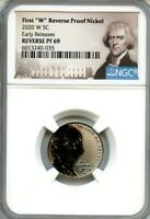 "2020 W First ""W"" Reverse PF Nickel Early Releases NGC Reverse PF69 Portrait"