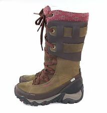 Merrell Women's Polarand Rove Peak Waterproof Winter Boot Black Slate Size 5