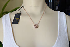 House of Harlow 1960 Tholos Mosaic Rose Gold-tone engraved Pendant Necklace NWT