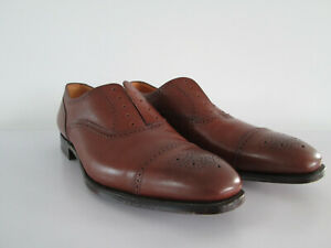 STUNNING VINTAGE ALFRED SARGENT MENS BROGUE CHATHAM 2 SHOES BROWN LEATHER UK10EE