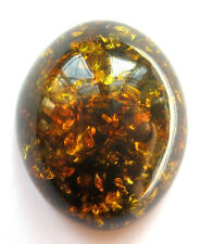 46 CT RARE & BEAUTIFUL GENUINE LARGE COFFEE/GOLDEN AMBER CABOCHON/GEM (900A/46)