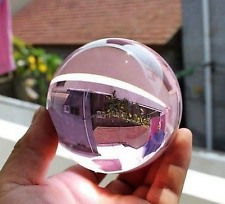 Asian Rare Natural Quartz PINK Magic Crystal Healing Ball Sphere 40mm + Stand.12