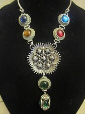 Vintage Hollycraft Medallion Statement Necklace- A Repurposed Original! OOAK