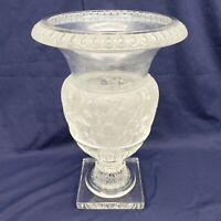 """Vintage Large Vase Lalique Crystal Versailles Glass Urn 14"""" Tall France (1 of 2)"""