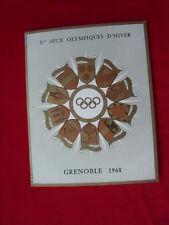 depliant jeux olympiques d'hiver grenoble 1968 5 timbres