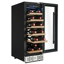 18 Bottles Single Zone Compressor Freestanding Wine Cooler Chiller Touch Control