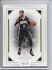 2015-16 National Treasures MONTA ELLIS GOLD PARALLEL BASE CARD SP #3/10 PACERS!