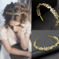 Greek Style Vintage Bride Weddings Tiara Alloy Leaves Shape Headband Hair Comb~
