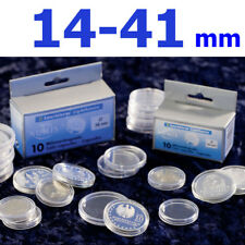 Münzkapseln Leuchtturm 14-41 mm für Gold Silber Euro Münzen Kapseln 10er Pack