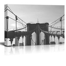 "Wall26 - Brooklyn Bridge in Black and White Gallery - CVS - 12"" x 18"""