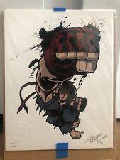 Collectible Tracy Tubera Print Poster Art Original Sign Ryu Ken Street Fighter