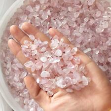 100g/3.5oz Natural Pink Crystal Quartz Gravel Tumbled Stone Healing Specimens