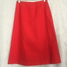 Vintage Handmade Red Pencil Skirt Size S