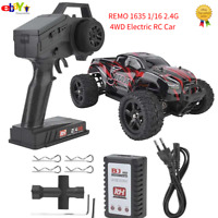REMO 1635 1/16 RC Car 2.4G 4 Wheels Drive Brushless High Speed Off-road Vehicle