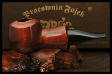 """Mr. Brog WOODEN HAND MADE SMOKING PIPE  no 52 Brown  """" Scoot """" PEAR  + Box"""