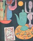 """1955 Tipped In Art Print """"Still LIfe"""" By Paul Klee Free Shipping"""