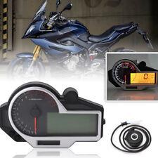 N 1-6 Digital Motorcycle LCD Speedometer Odometer Tachometer Instrument w/Sensor