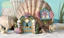 Glow in Dark Mermaid Door and Window Resin Fairy Village Aquarium Decor Seashell