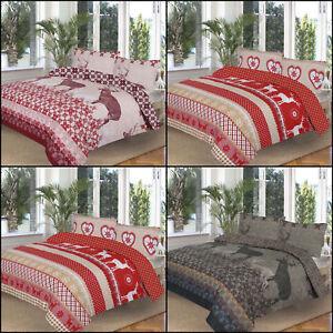 Winter & Cristmas Printed Duvet Covers with pillowcases, Festival Duvet Cover