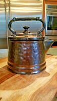 Vintage Pottery McCoy Bronze Tea Pot, Tea Kettle cookie jar nice!