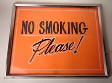 Vintage Diner Style No Smoking Sign Hand Painted